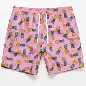 AMBSN Pineapple Swim Trunks Volley Shorts Pink M